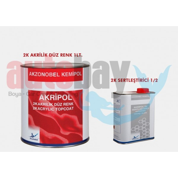 Akzo Kemipol Akripol 2K Boya Tofas FI-224 Corfu Beyazı Seti