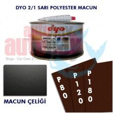 DYO 2500 POLYESTER MACUN SR 3/1 (ÇELİK MACUN ) SETİ