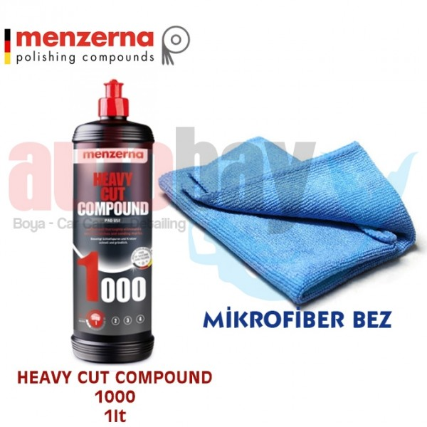 MENZERNA HEAVY CUT COMPOUND 1000 1 LT (ÇİZİK GİDERİCİ PASTA)