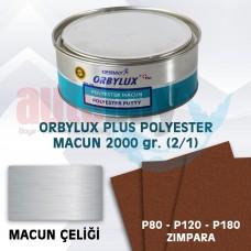 ORBAY ORBYLUX PLUS POLYESTER (ÇELİK ) MACUN SETİ 2000GR