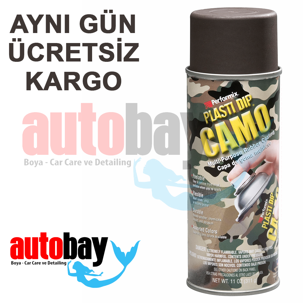 Plasti Dip Camo Green Askeri Yesil Sprey 400ml Autobay Boya
